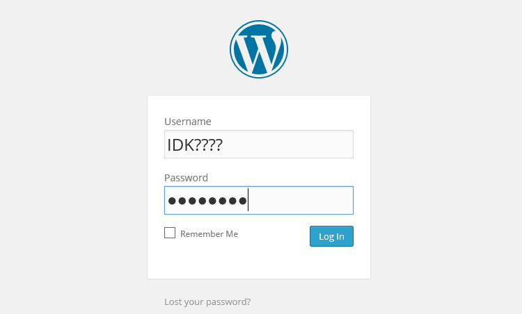recover wordpress password