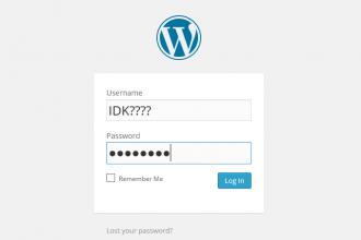 recover wordpress password